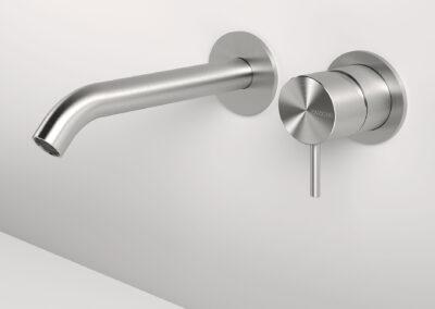 Badezimmer Wandeinhandwaschtischmischer von der Edelstahlserie Zazzeri Z316 entsprechen allen Schweizer Normen. Dies Collection bietet auch von den klassischen Badarmaturen und Duschenmischer bis zum Bidetmischer viele Badezimmerarmaturen an. Auch sind einige Farben in PVD erhältlich.