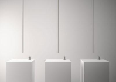 Der Badezimmer Deckenauslauf von der Edelstahlserie Zazzeri Z316 entsprechen allen Schweizer Normen. Dies Collection bietet auch von den klassischen Badarmaturen und Duschenmischer bis zum Bidetmischer viele Badezimmerarmaturen an. Auch sind einige Farben in PVD erhältlich.